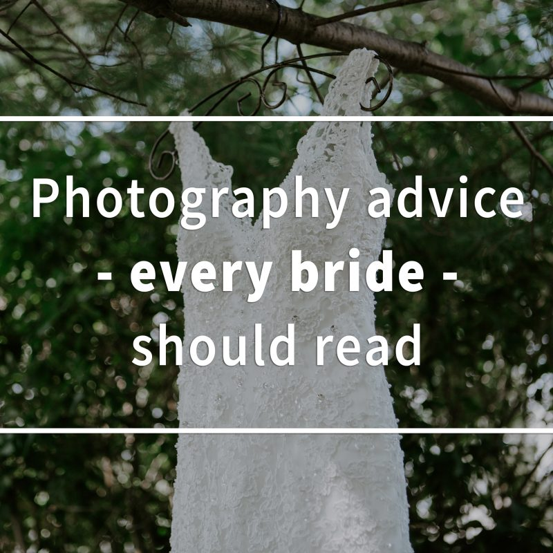 Five photography advice every bride should read. How to plan a wedding. Wedding planning advice. Wedding photography tips.