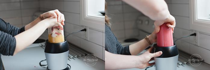 In-home lifestyle engagement session. Couple preparing food breakfast in the kitchen. Séance de fiançailles couple romantique à la maison à Montréal |Lisa-Marie Savard Photographie |Montréal, Québec |www.lisamariesavard.com