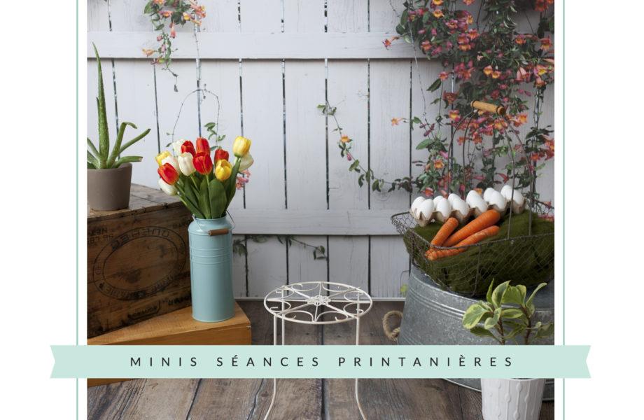 Spring Easter mini sessions studio set-up decor. Minis séances printanières printemps Pâques pour enfants à Montréal | Lisa-Marie Savard Photographie |Montréal, Québec |www.lisamariesavard.com