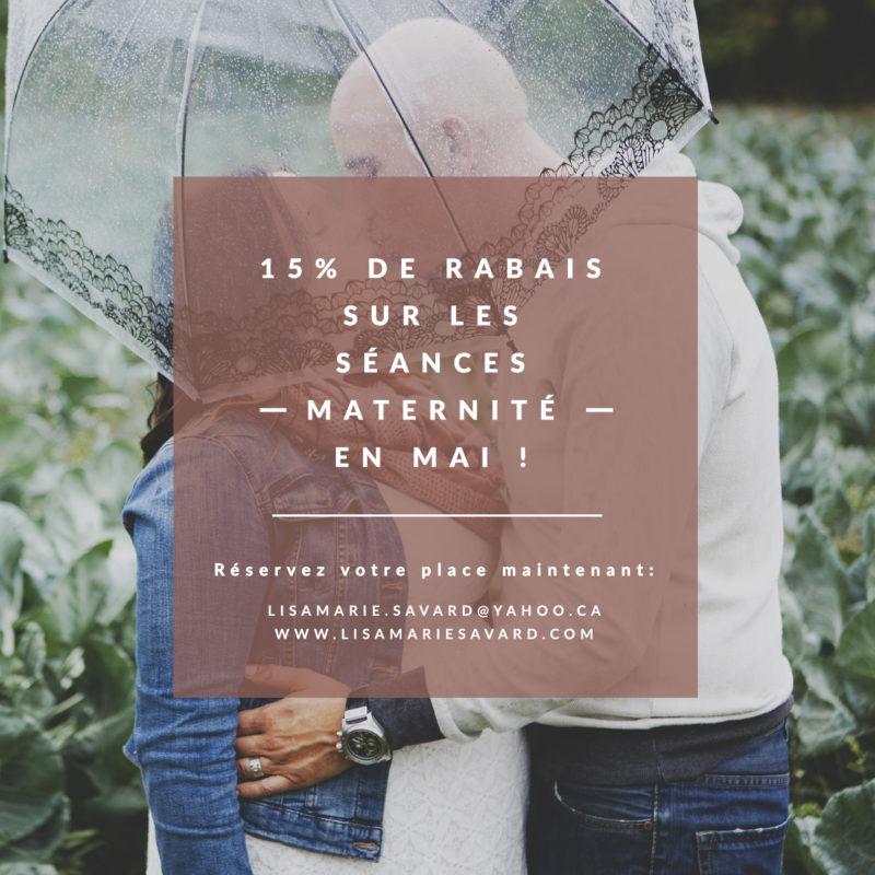 15% discount on maternity sessions in May. Maternity photographer promotion rebate discount Montreal. 15% de rabais sur les séances maternité en mai. Promotion rabais spécial photographe maternité grossesse Montréal | Lisa-Marie Savard Photographie | Montréal, Québec | www.lisamariesavard.com