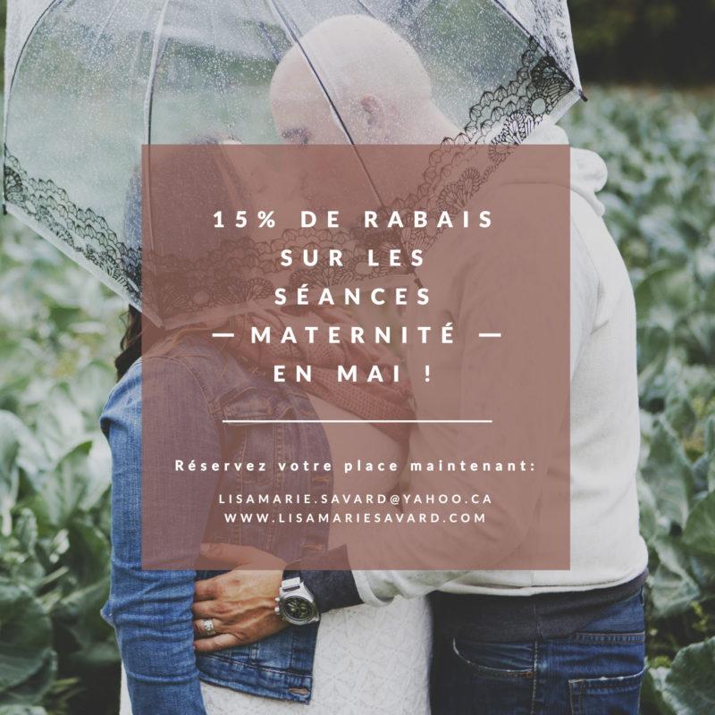 15% discount on maternity sessions in May. Maternity photographer promotion rebate discount Montreal. 15% de rabais sur les séances maternité en mai. Promotion rabais spécial photographe maternité grossesse Montréal |Lisa-Marie Savard Photographie |Montréal, Québec |www.lisamariesavard.com
