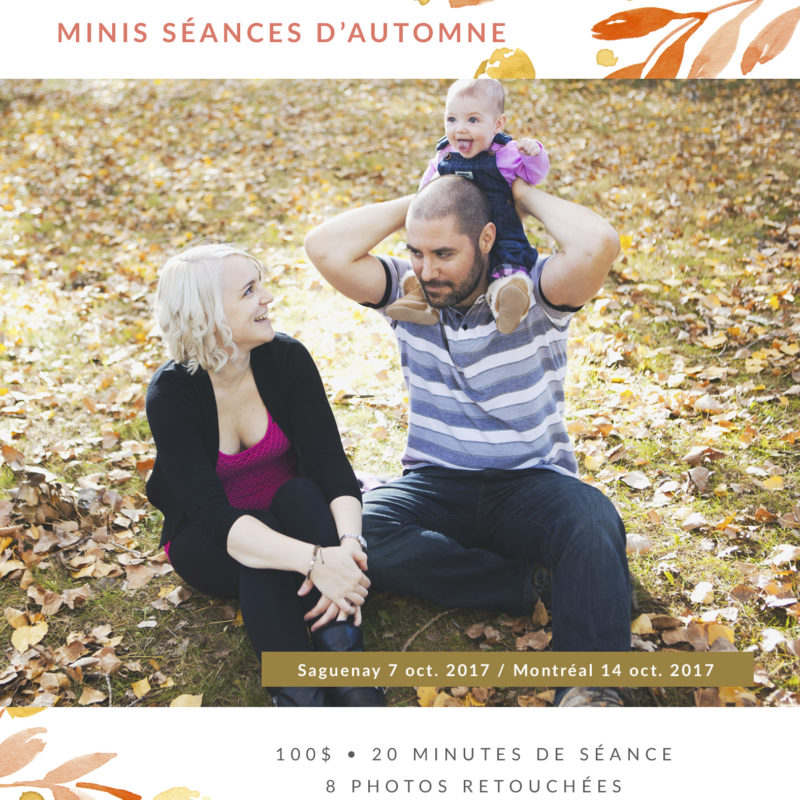 Fall mini sessions family photographer in Montreal Canada. Minis séances d'automne photographe famille maternité enfants à Montréal