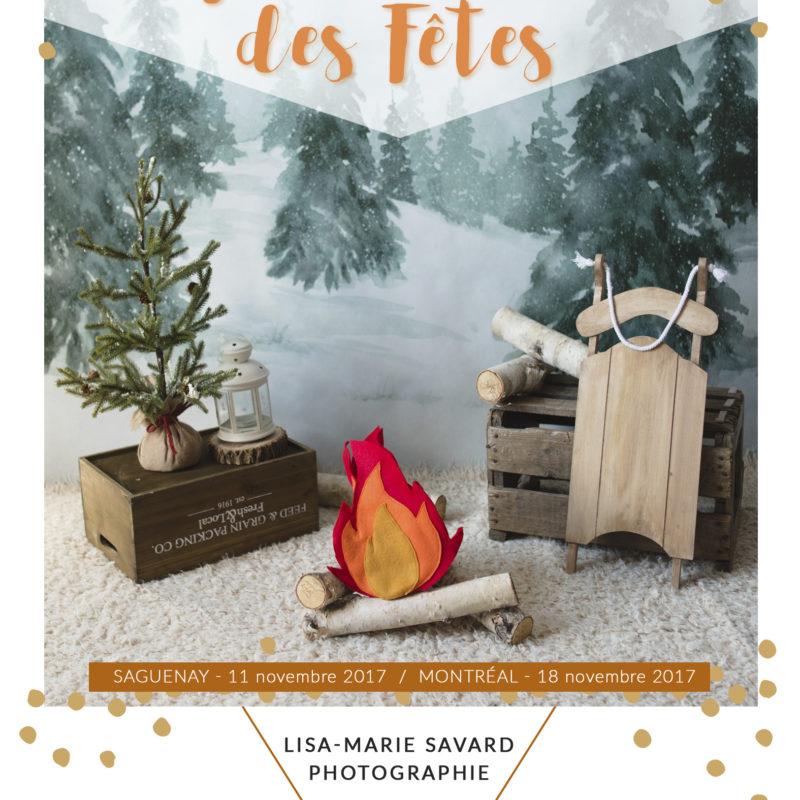 Christmas Holiday mini sessions theme idea pine tree sled fire camp marshmallows Intuition Backgrounds Vale. Mini séances des Fêtes Noël en studio à Montréal décor hivernal sapin traîneau feu de camp guimauves |Lisa-Marie Savard Photographie |Montréal, Québec |www.lisamariesavard.com