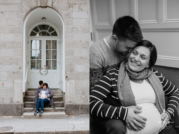 Urban maternity photos in the Old Montreal. Photos de maternité dans le Vieux-Montréal