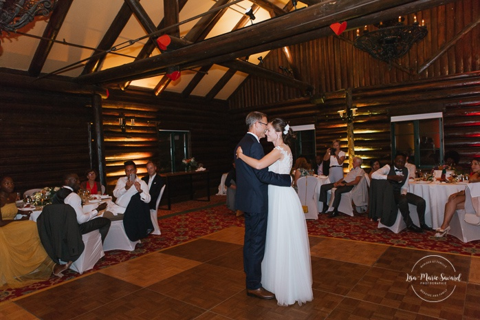 Bride's first dance with father. Salle Héritage. Mariage en Outaouais. Outaouais wedding. Ottawa photographer.