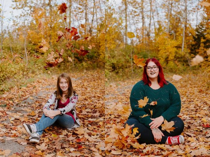 Best friend photos. Sibling photos. Sisters photoshoot. Fall family session. Minis séances d'automne au Saguenay. Photographe de famille au Saguenay.