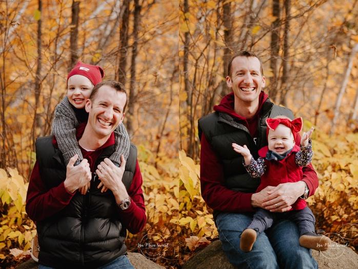 Family photos with boy and girl. Fall mini session. Fall family photos. Minis séances d'automne au Saguenay. Photographe de famille au Saguenay.