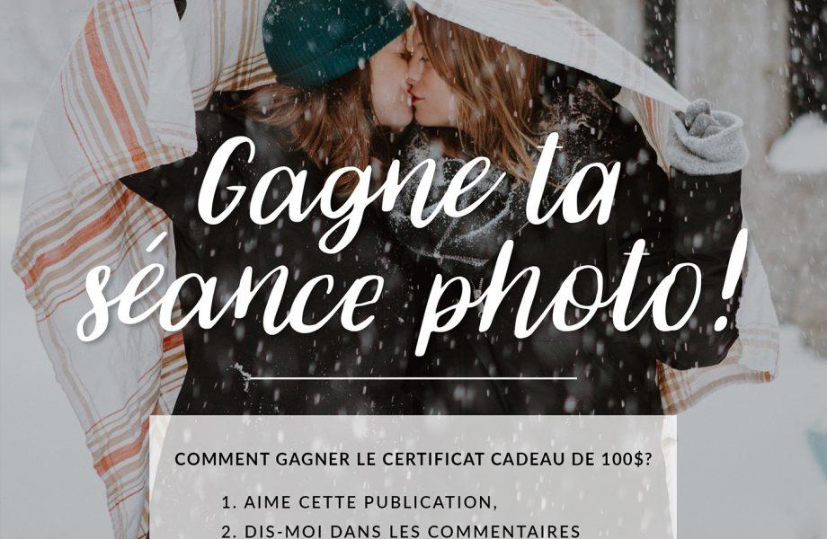 CONCOURS 2020 – Gagnez un certificat cadeau pour la séance photo de votre choix!