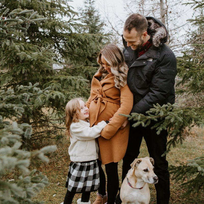 Family photos with dog. Family session with dog. Maternity photos with child. Maternity photos with sibling. Photos de maternité dans le Sud-Ouest. Photographe de maternité à Ville-Émard. Montreal Southwest maternity photos.