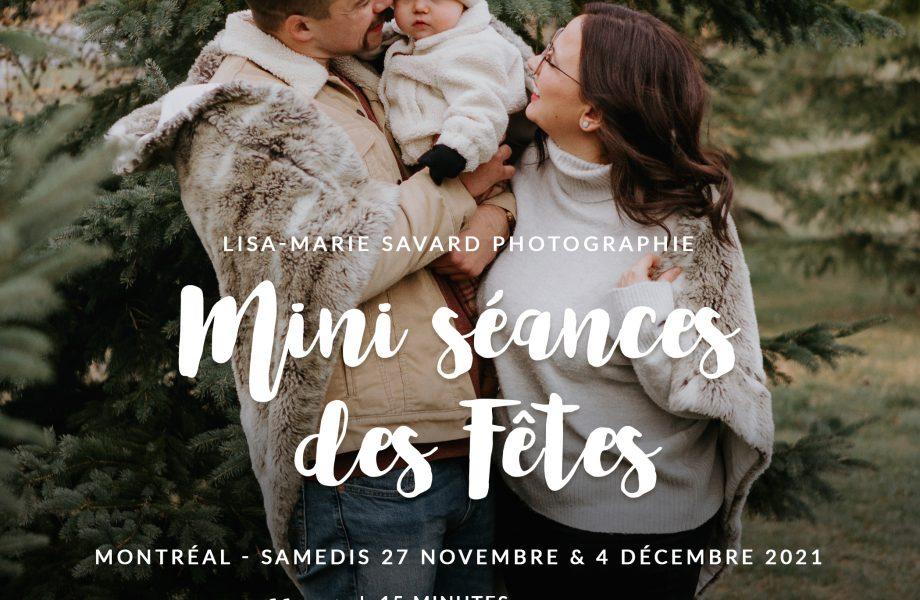 PROMOTION – Mini séances des Fêtes à l'extérieur à Montréal